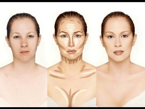 Le contouring en maquillage - crédit : http://www.dieu-crea-la-femme.com/2013/02/27/tout-sur-le-contouring-du-visage/